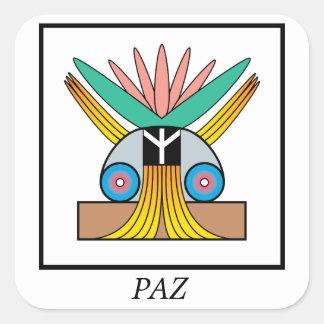 Paz (Peace) Symbol. Plejaren symbol for peace Stickers