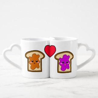 PB & J Lovers' Mugs Couple Mugs