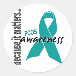 PCOS Awareness Classic Round Sticker
