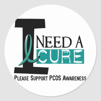 PCOS I Need A Cure 1 Classic Round Sticker
