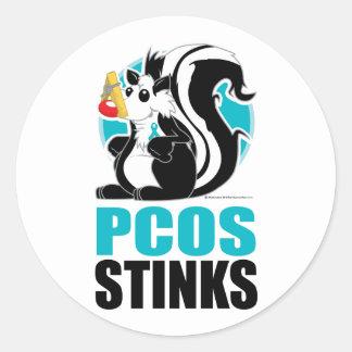 PCOS Stinks Classic Round Sticker