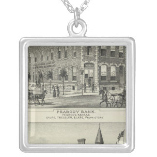 Peabody Bank, Kansas Silver Plated Necklace