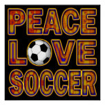 PEAC LOVE SOCCER POSTER