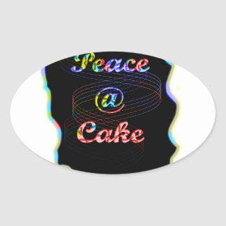 Peace A @ cake Sticker