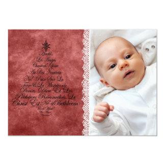 Peace and Joy 13 Cm X 18 Cm Invitation Card