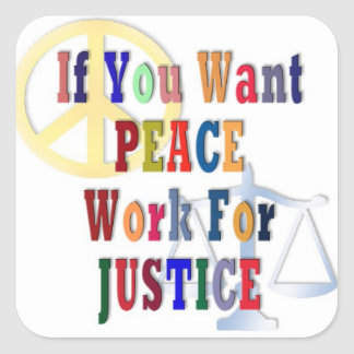 Peace and Justice Square Stickers