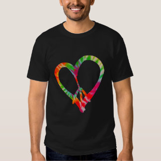Peace and Love - Tie Dye colors Tshirts