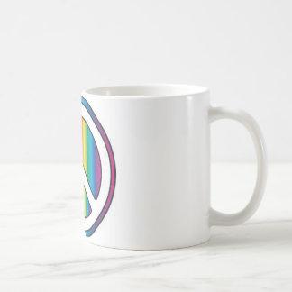 Peace baby basic white mug