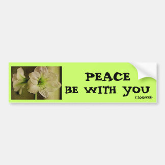 """""""Peace Be With You"""",Lily---Bumpersticker Bumper Sticker"""