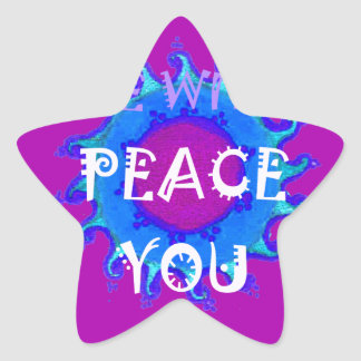 Peace Be With You Star Sticker