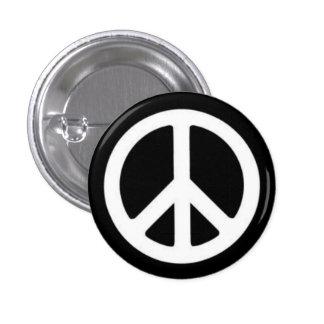 Peace BnW 3 Cm Round Badge