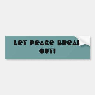 PEACE! - bumper sticker