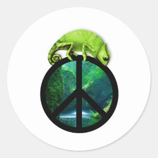 peace chameleon sticker