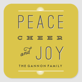 Peace Cheer Joy Stickers