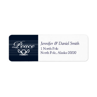 Peace Christmas Greeting Card  Label Stickers Return Address Label