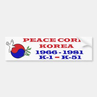 Peace Corps Korea Bumper Sticker