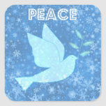 Peace Dove Christmas Stickers