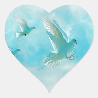 peace dove heart sticker