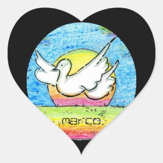 Peace Dove Love Heart stickers
