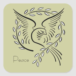 Peace Dove Square Sticker