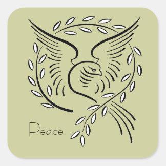 Peace Dove Square Stickers