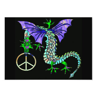 Peace Dragon 13 Cm X 18 Cm Invitation Card