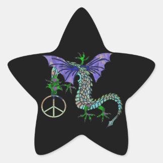 Peace Dragon Star Sticker