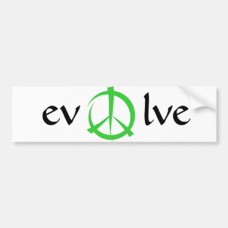 peace, evolve bumper sticker