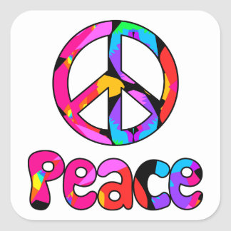 Peace Flamingo Splash Stickers