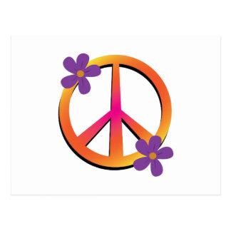 Peace & Flowers Postcard