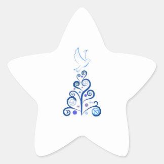 PEACE FOR CHRISTMAS STAR STICKER