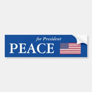 'PEACE For President' Bumper Sticker