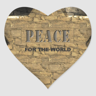 Peace for the World Sticker