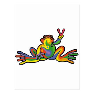 Peace Frog Postcard