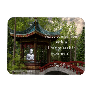 Peace From Within, Buddha Quote Rectangular Photo Magnet