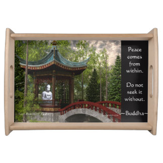 Peace From Within, Buddha Quote Serving Tray