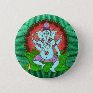 Peace Ganesh Dancing 6 Cm Round Badge