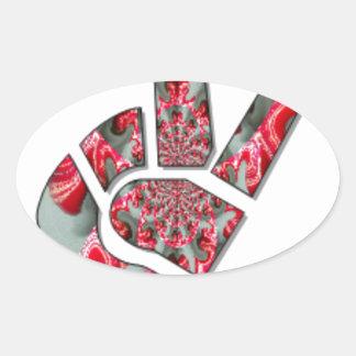 Peace Hakuna Matata love all to save all amazing p Oval Sticker