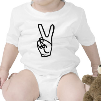 peace hand - no war bodysuits