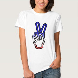 Peace Hand Pop Culture Tshirt