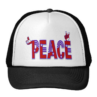 Peace Hand Sign Trucker Hat