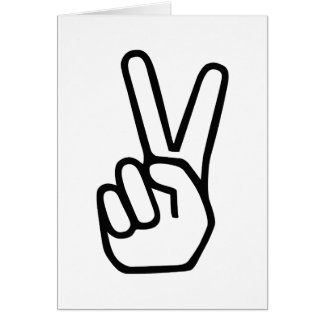Peace Hand Sign Greeting Card