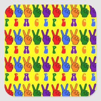 Peace Hand Signs Stickers