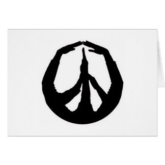 Peace Hands Greeting Card