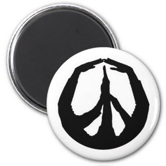 Peace Hands 6 Cm Round Magnet
