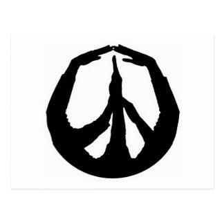 Peace Hands Postcard