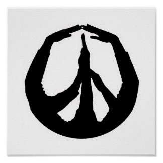 Peace Hands Poster