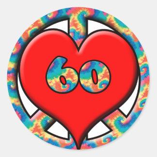 Peace, Heart, 60 Round Sticker