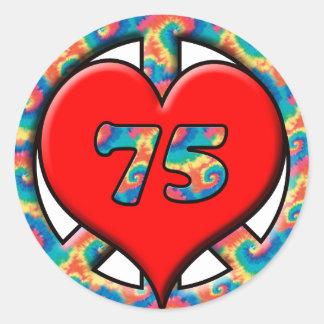 Peace, Heart, 75 Round Sticker