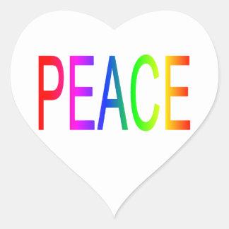 Peace Heart Sticker